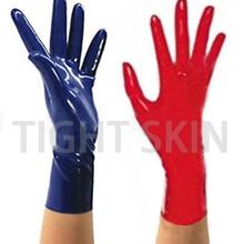 Латексные перчатки Фетиш варежки бесшовные стиль унисекс натуральный каучук короткая перчатка свободный размер