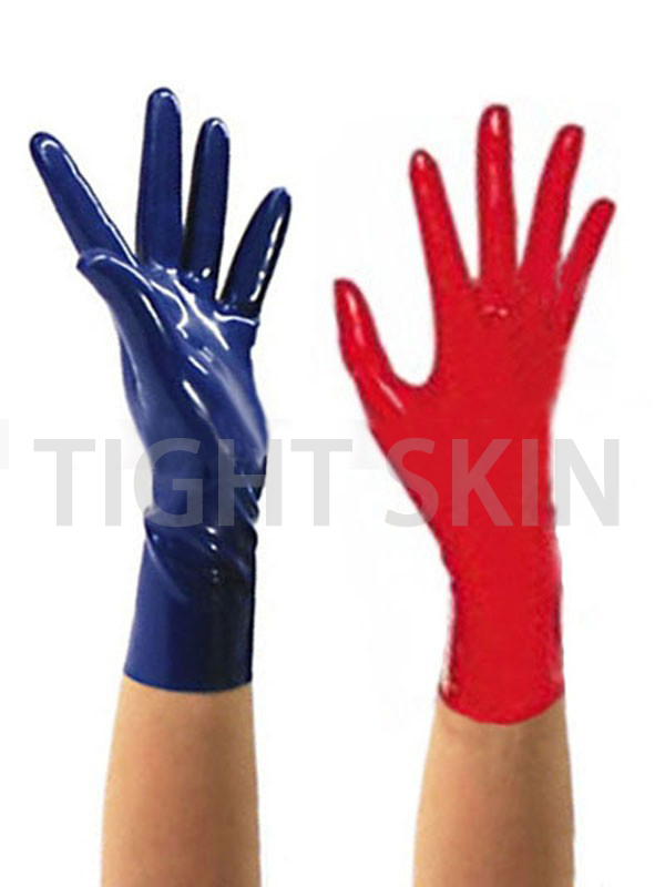 Latex Gloves Fetish Mitten Seamless Style Unisex 100% Natural Rubber Short Glove Free Size