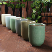 Longquan celadon ice crack glaze couple office home ceramic cup kitchen drinking utensils
