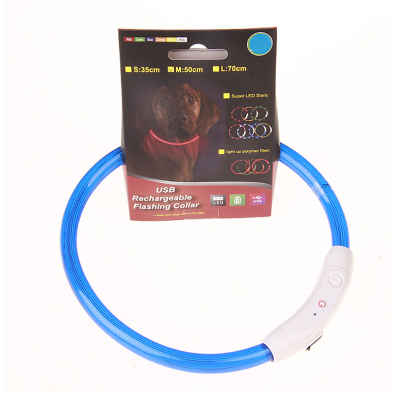 Genopladelig valpkrave USB-LED Blinkende Light Band Bæltsikkerhed - Pet produkter - Foto 5
