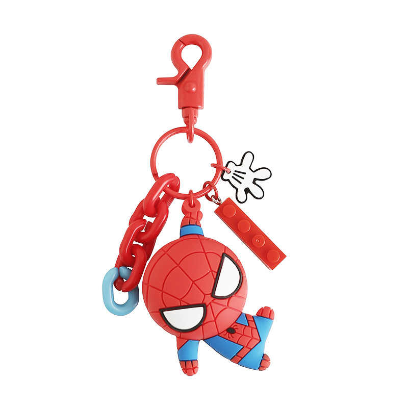 2018 5 Styles The Avengers Anh Hùng Phim Hoạt Hình Keyring Spiderman 3D Double Side Silicone Keychain Captain America Phim Hoạt Hình Keychain Quà Tặng Con