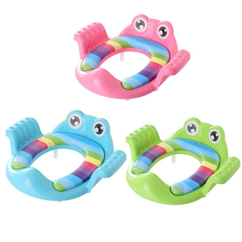 Cartoon Frog Baby Pot Training Potties Toilet Seat Ring Pad With Armrests For Toddler Girls Boys Trainers Potty Toilet Cushion