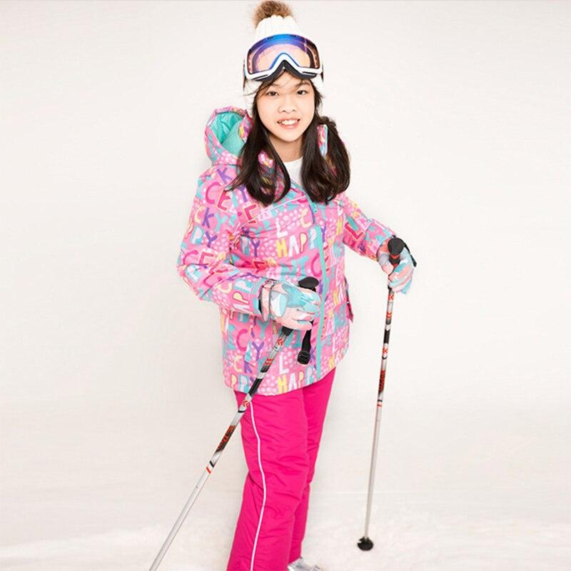 Winter Kids Ski Suit Children Waterproof Windproof Thermal Snowboarding Jacket Girls Outdoor Sport Skiing Clothes Pants