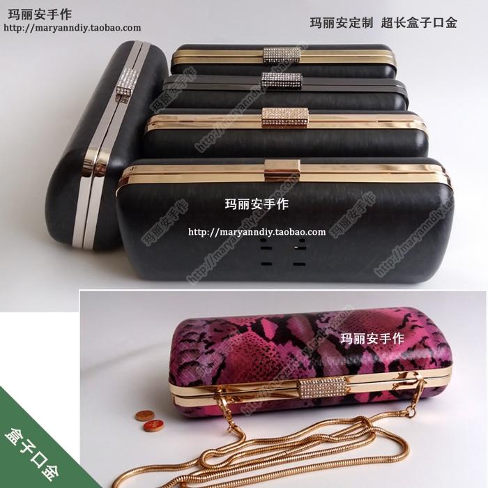 24 Cm Metal Purse Hardware Frame With Black Plastic Box Clutch O Diy Bag Making Supplies Obag Handles Accessories Drop Shopping