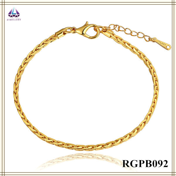 Alibaba Hot Sale Fake Light Weight Gold Jewelry Bracelet Hand Chain