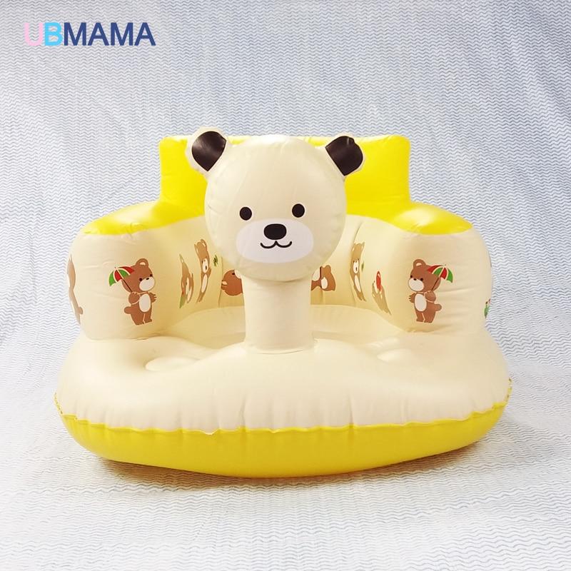 Bath seat Dining Chair Baby Inflatable Sofa pushchair baby chair portable Baby seat chair Play Game Mat sofa Kids Learn stool
