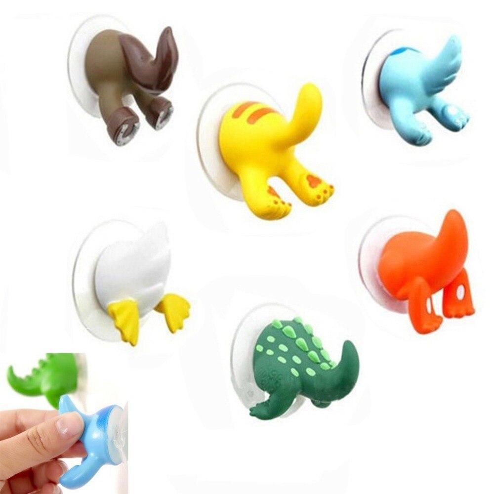 1 Stücke Cartoon Schöne Tier Schwanz Gummi Sucker Haken Schlüssel Handtuch Aufhänger Halter Haken Kleidung Schlüssel Aufhänger Wand Küche Zubehör