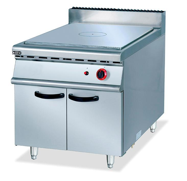 Super quality stainless steel commercial gas french hot plate with cabinet food kitchen equipment factory wholesale