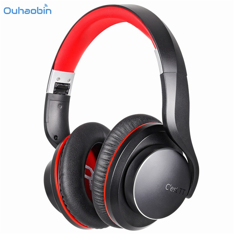 Ouhaobin Wireless Bluetooth 4.1 Headphone With Built-in Mic Foldable Fashion Stereo Music Headset for Android and IOS Sep19 otamatone toy music instruments for kids with 8 built in songs