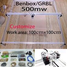 De lujo tallado con láser 500 mw 100*100 cm área de mini DIY máquina de grabado láser/IC marcado/laser impresora/trabajo de tallado Fastship por DHL