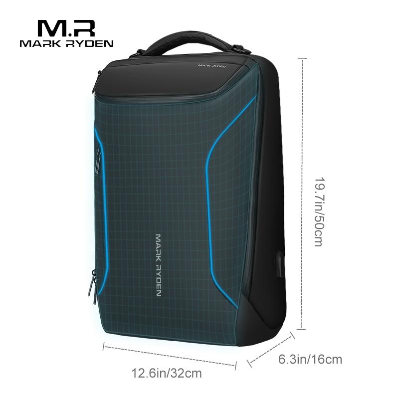 Mark Ryden 2020 New Anti-thief Fashion Men Backpack Multifunctional Waterproof 15.6 inch Laptop Bag Man USB Charging Travel Bag