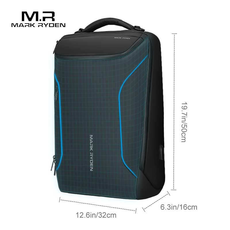 Mark Ryden 2019 Новый Анти-Вор модный мужской рюкзак Многофункциональный Водонепроницаемый 15,6 дюймов Сумка для ноутбука Мужская зарядка через usb дорожная сумка