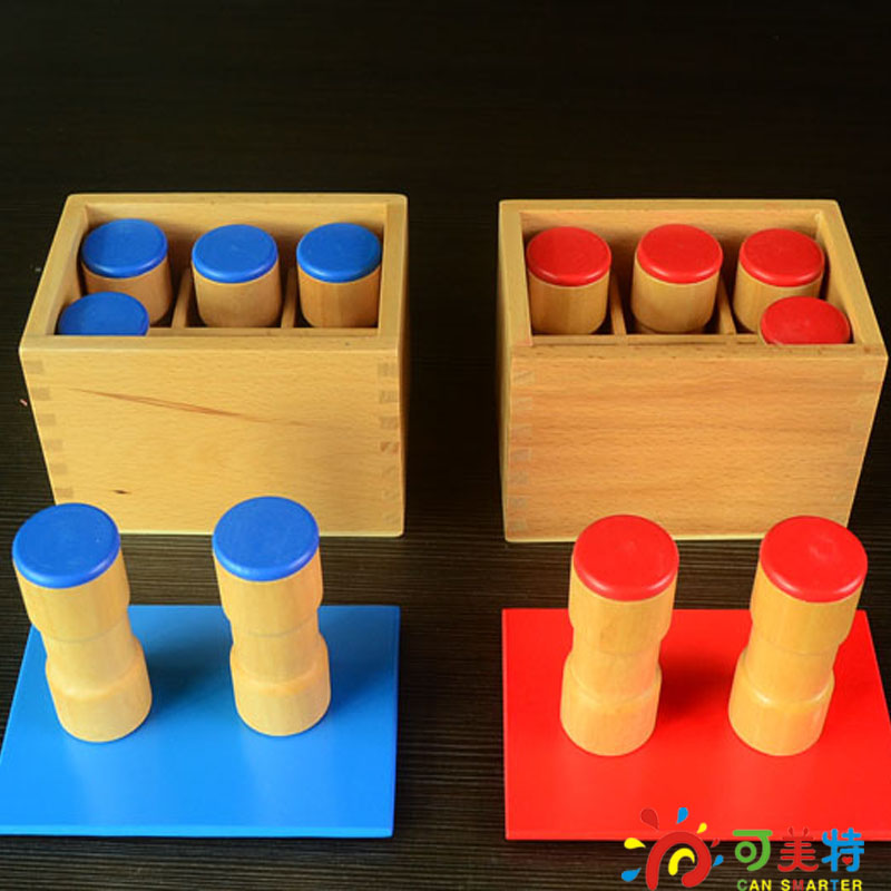Montessori Education Sounds Tube  Beech Wood  Sensory toys Early educational toys Can Smarter Free Shipping купить