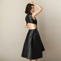 Черные платья лето 2019 новые летние Хепберн сексуальные блестящие платья женские платья Популярные