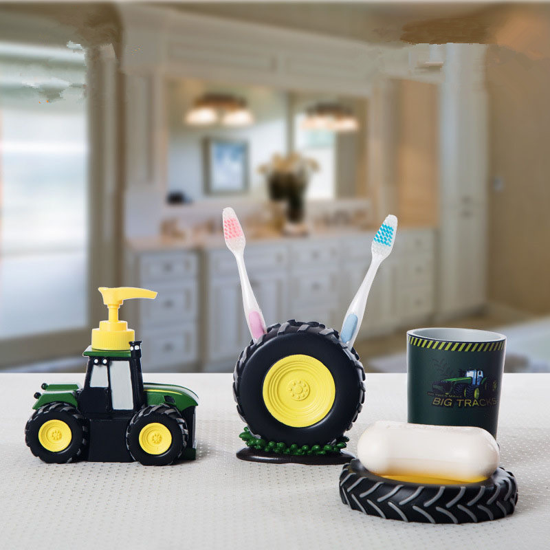 personality tractor kids bathroom sets kit para banheiro high