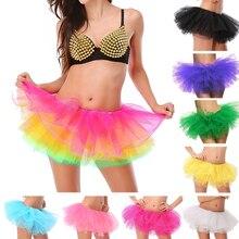 Saia tutu de 5 camadas feminina, adulta, vestido de baile, de tule, princesa, festa, clube sexy saia curta