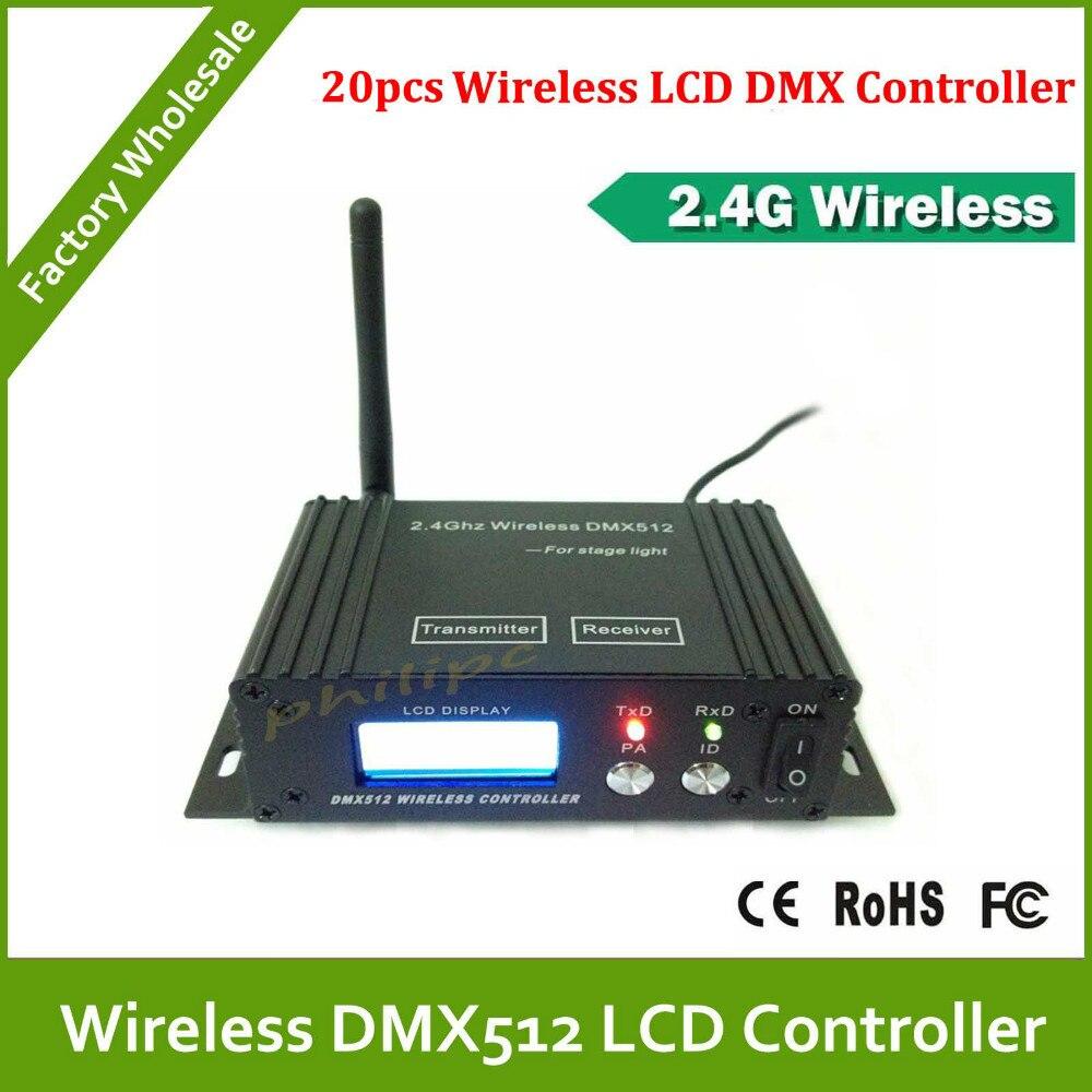 ФОТО DHL Free Shipping  LCD Digital Display 2.4G Wireless DMX Receiver/Transmitter