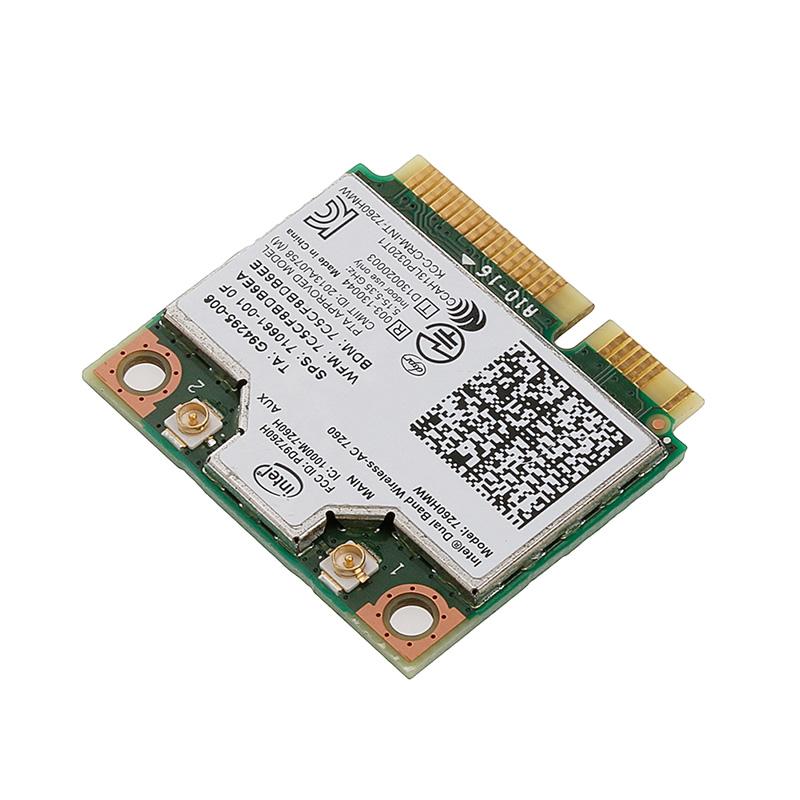 2020 New For Dual Band Wireless-AC 7260HMW Mini PCI-E BT4.0 Card For Intel For HP SPS 710661-001