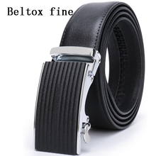 Mens Dress Leather Belt Automatic Ratchet Buckle Belts For Men Black, 35mm Width UP To 160c Long Big and Tall Designer ceinture