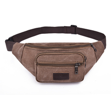 Sac Ceinture Femme Fanny Pack Men's High Quality Canvas Material Shoulder Bag Travel Waist Hip Hot Selling Multi Function