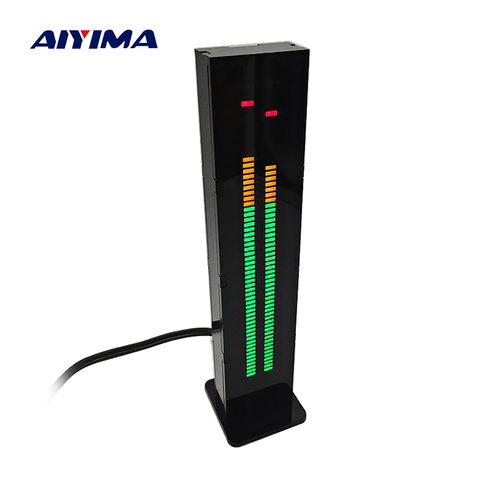 Aiyima AS60 LED Music Spectrum Indicator Dual Channel 60 Professional Level Volume Display Electronic DIY Light VU Meter aiyima 5pcs 5v rgb led level indicator vu meter amplifier board diy mcu adjustable display pattern dual channel dual 24