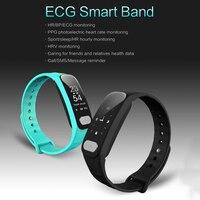 Gorąca Sprzedaż Inteligentny Bransoletka EKG + PPG Blood Pressure Monitor Tętna Zegarków Centrum Aktywny Tracker Opaska pk mi Kompania 2