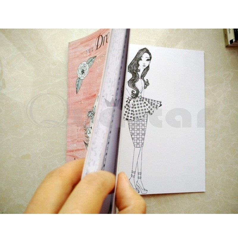 Aliexpress Buy 96 Pages Korea Dream Girl Coloring Book For Children Adults Relieve Stress Fashion Painting Drawing Antistress Colouring Books From