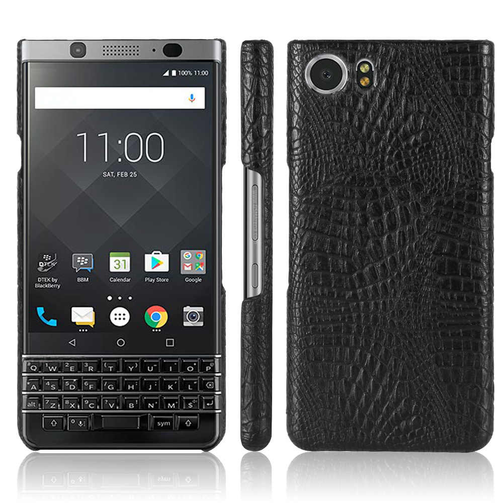 Crocodilo de luxo de Couro de Cobra Caso Capa Dura para BlackBerry Q30 Q20 Keyone Key2 2 Dtek70 Prive Edition Sliver Tampa Do Telefone casos