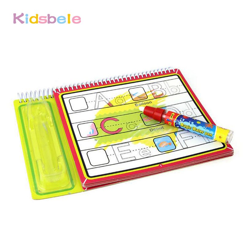 Water Drawing Book Coloring Doodle With 1 Magic Pen Alphabet Painting Board Juguetes For Children