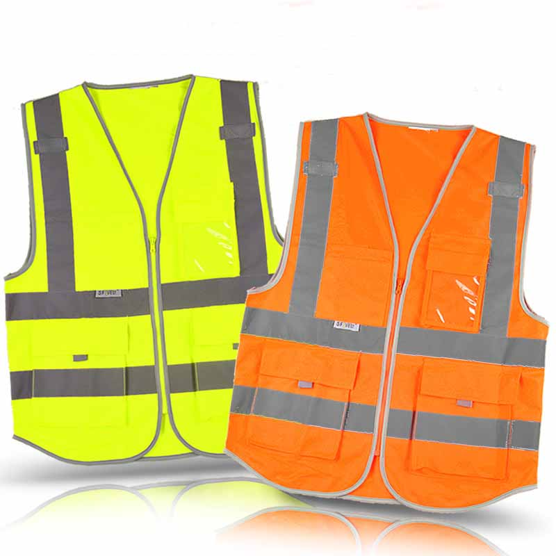 New High Visibility Reflective Safety Vest , Chaleco Reflectante Amarillo Polyester Lote Seguridad for Dark Night Working