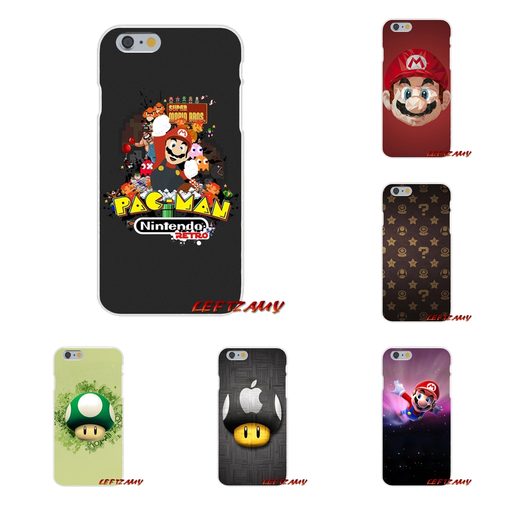 Silicone Phone Cover For Samsung Galaxy S3 S4 S5 MINI S6 S7 edge S8 S9 Plus Note 2 3 4 5 8 Super Mario Bros Mushrooms Art Poster