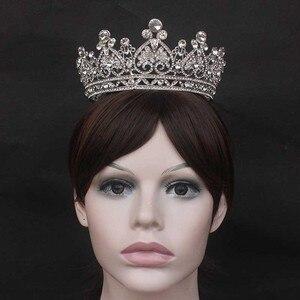 Image 5 - Contenitore di Monili principessa di Grandi Dimensioni Completo di Cerchio Strass Queen Pageant Corona di Cerimonia Nuziale Nuziale Dei Monili Dei Capelli Accessori Abito Da Sposa