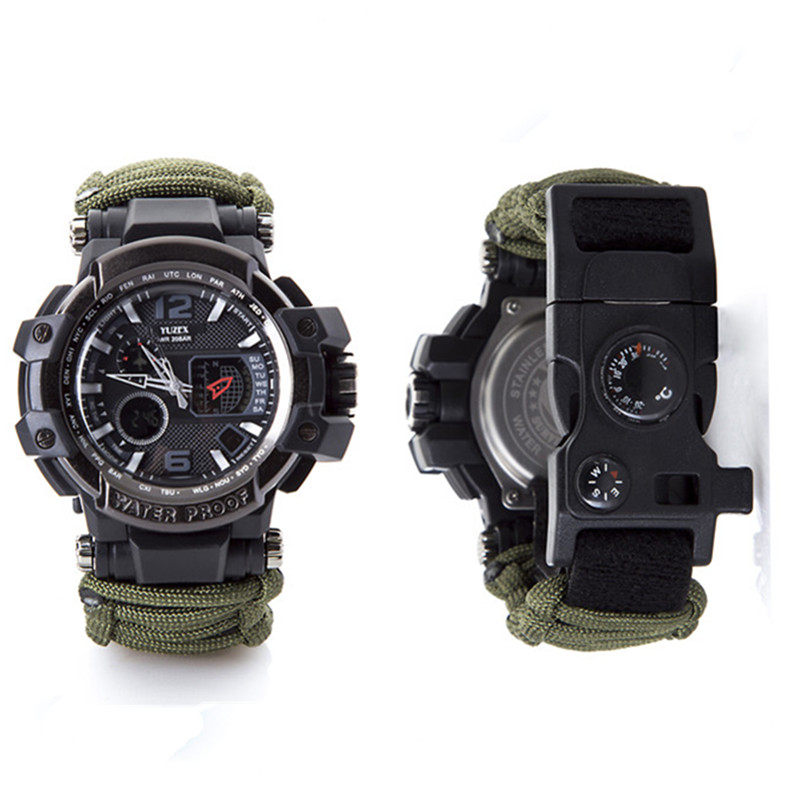 Waterproof paracord watch survival outdoor camp (2)