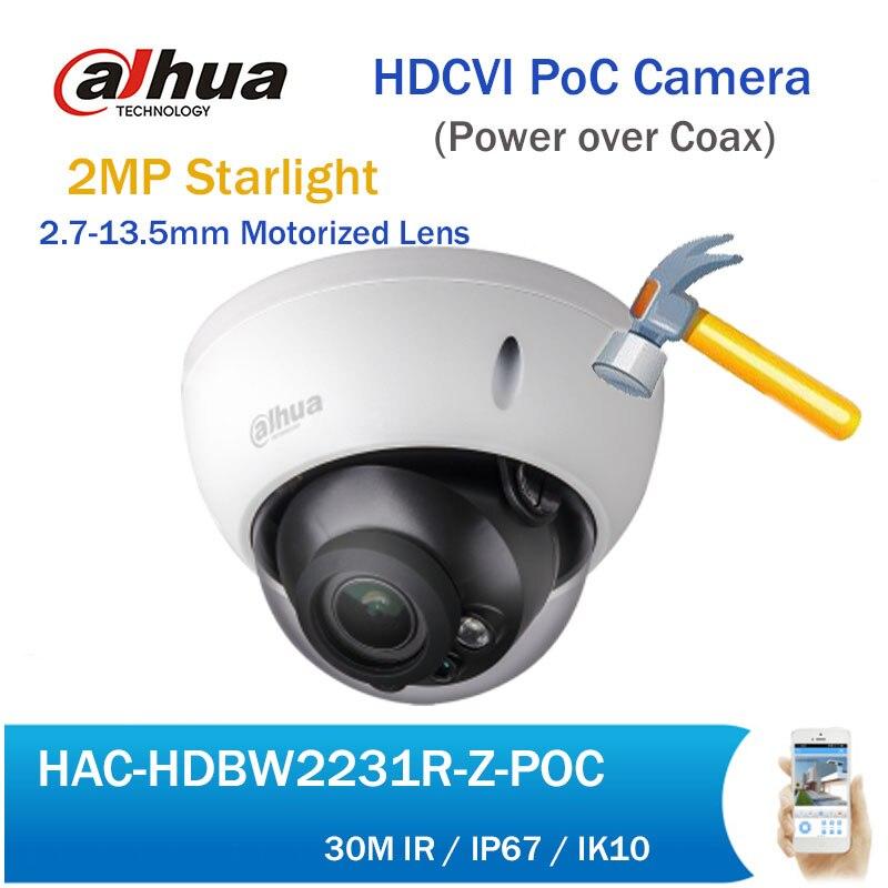 Dahua HDCVI PoC Камера HAC-HDBW2231R-Z-POC Full HD 2MP Starlight Моторизованный объектив ...