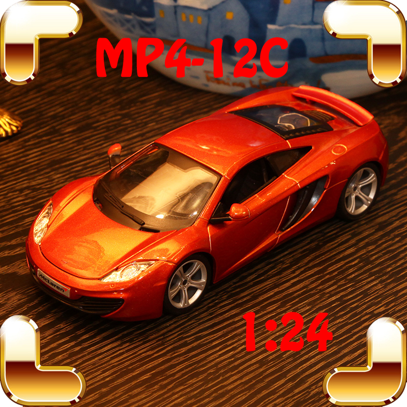 New Year Gift MP4-12C 1/24 Metal Model Car Collection Toys Decoration Alloy Metallic Vehicle Strong Cars Model Scale Present Toy new year gift gallargo 1 18 large model metal car metallic scale simulation diecast alloy collection toys vehicle present