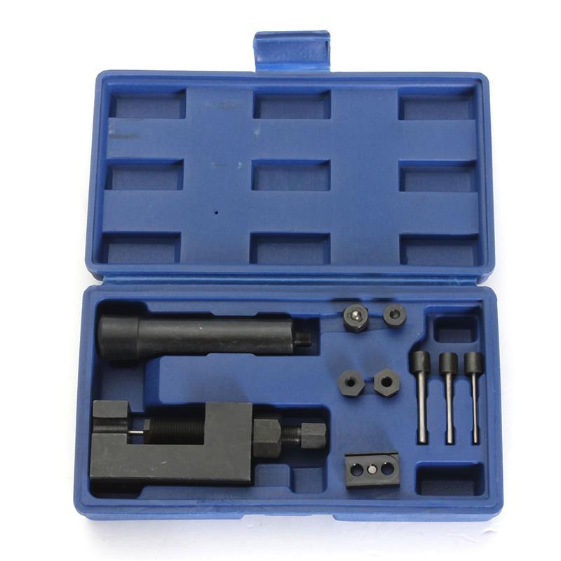 L NEW Motorcycle Heavy Duty Chain Breaker Cutter Riveter Tool Kit 520 525 530 Splitter