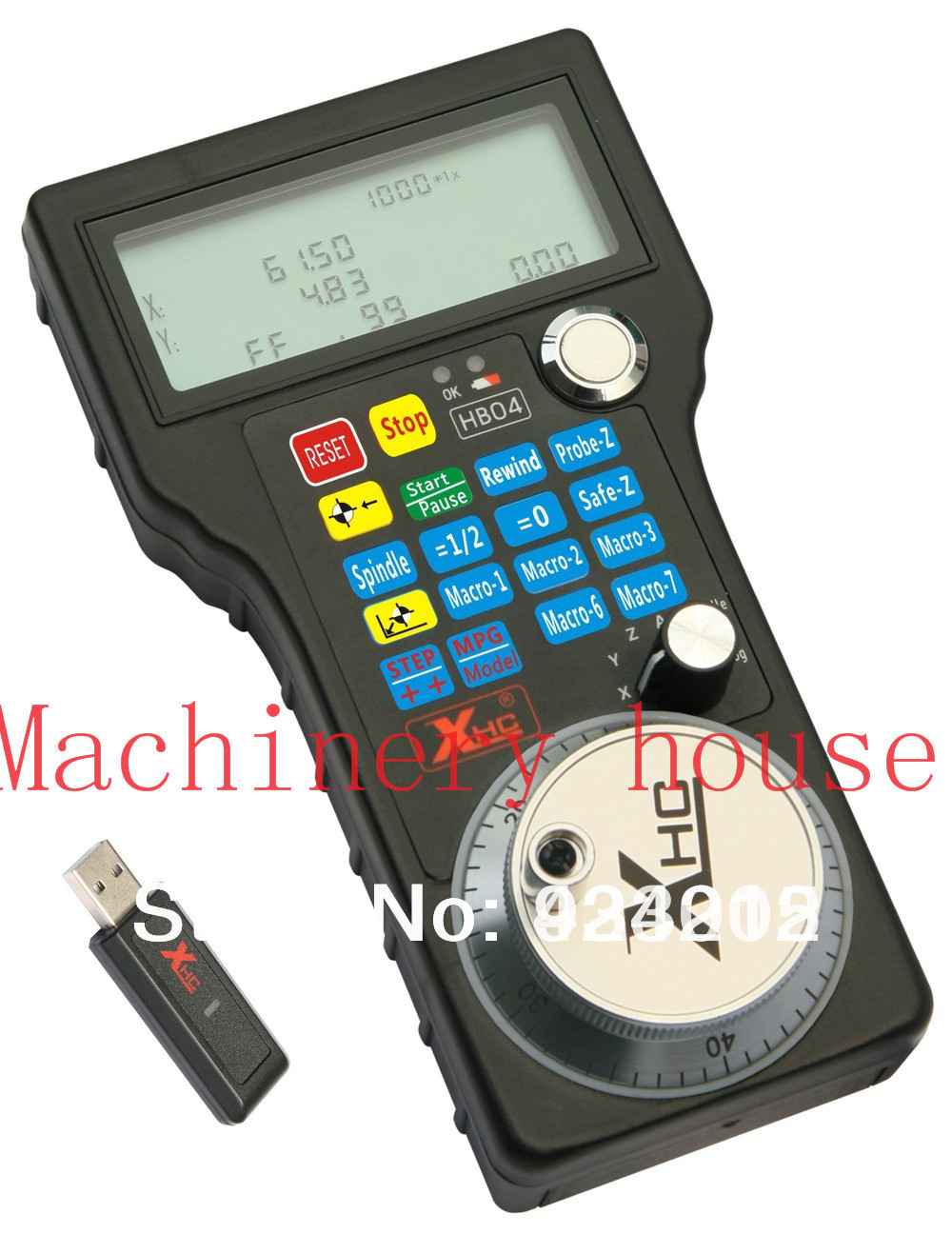 Free Shipping Wireless Mach3 MPG Pendant Handwheel for CNC Mac.Mach 3, 4 axis Wholesale Price (HandWheel-04) best price universal cnc 4 axis mpg pendant handwheel