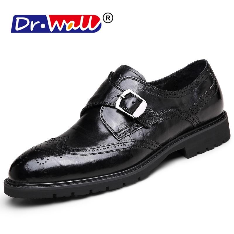 Men Leather Shoes 2018 Men's Genuine Leather Oxfords Fashion Office - Men's Shoes