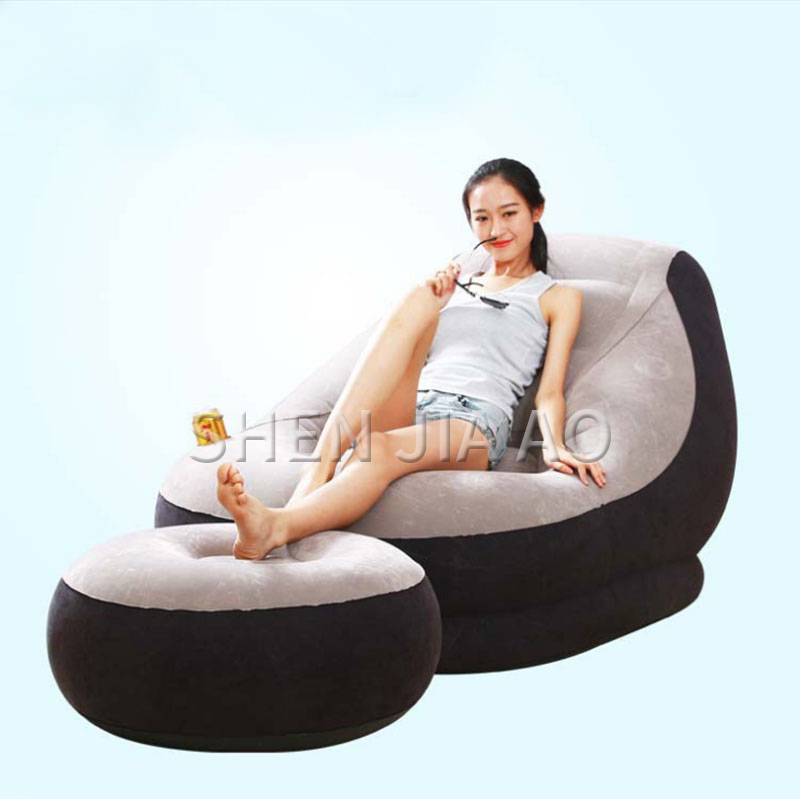 Portable Lazy Inflatable Sofa Recliner Foldable Single Sofa Lunch Break Bed Multi-function Inflatable Sofa With Inflator 1PCPortable Lazy Inflatable Sofa Recliner Foldable Single Sofa Lunch Break Bed Multi-function Inflatable Sofa With Inflator 1PC
