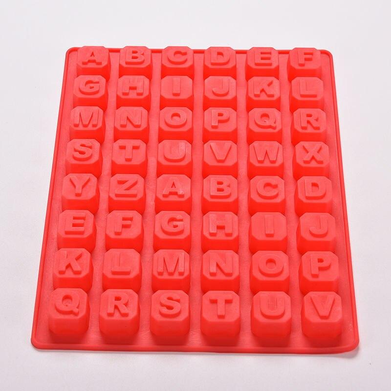 48 Letter Enghish Alphabet Letter Silicone Mold Soap Mould
