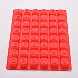 48 letra alfabeto enghish letra molde de silicone sabão molde bolo cupcake assar bakeware chocolate sabão decoração 1pc