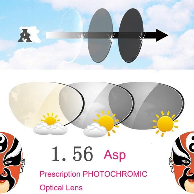 1.56 Meekleurende Enkele Vision Recept Optische Brillen Lenzen met Snelle Kleur Veranderende Prestaties bijziendheid lens