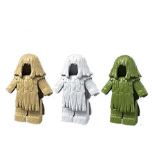 2Pcs/set Camouflage Ghillie Suit Clothes for Sniper Military SWAT Police Army Soldier Figure Set Toys For Children(China)