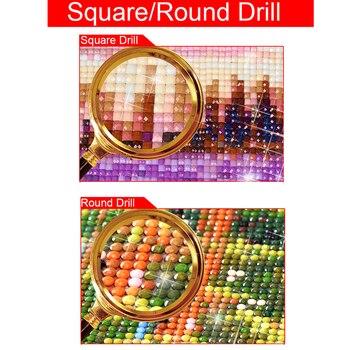 5D DIY diamante bordado punto de cruz salto delfines cuadrado completo/redondo diamante mosaico pintura decoración HYY