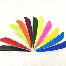 50pcs / lots 4 Water Drop Shape Hunting Arrow Feather 12 Color Turkey Archery Accessories OBAADTF