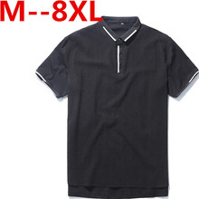 Plus 10XL 9XL 8XL 7XL 6XL 5XL 4XL Men Polo Shirt Men Business & Casual solid male polo shirt Short Sleeve breathable polo shirt
