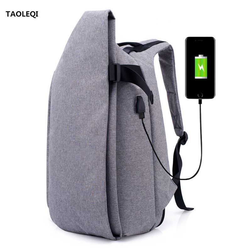 Men Anti-thief Backpack USB Charge Computer Bag Anti-theft Notebook Backpack 15 inch Waterproof Laptop Backpack Men School Bag 2018 tigernu new arrival laptop backpack 15 6 inch usb charge for men