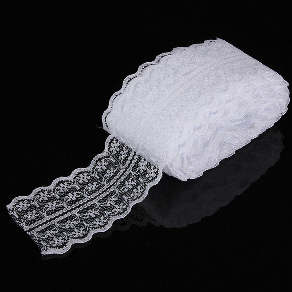 10 ярдов/партия 45 мм с кружевными лентами ленты своими руками, вышитое Тюлевое белая кружевная бейка шнур для шитья украшения кружевная бейка ткань