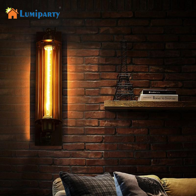 LumiParty Home Decoration Lighting Loft Vintage Wall Lamps American Industrial Wall Light Edison Light E27 Bedside Wall Fixture