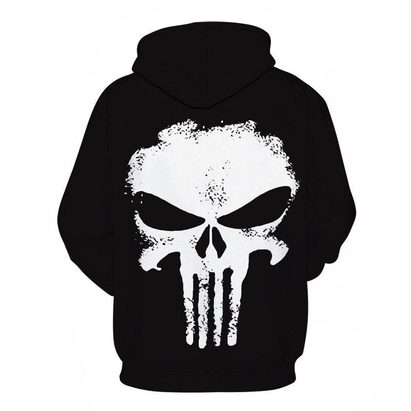 Image 4 - The Punisher Cosplay Hoodie Sweatshirts Mens Male 3d Print Fashion Cool Hip Hop Hooded Jacket Coats Streetwear-in Hoodies & Sweatshirts from Men's Clothing